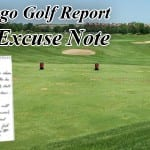 GOLF EXCUSE NOTE